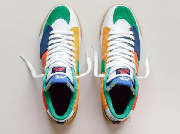 Nike SB Zoom Blazer Mid Edge Multicolor Safety Orange DA2189-800