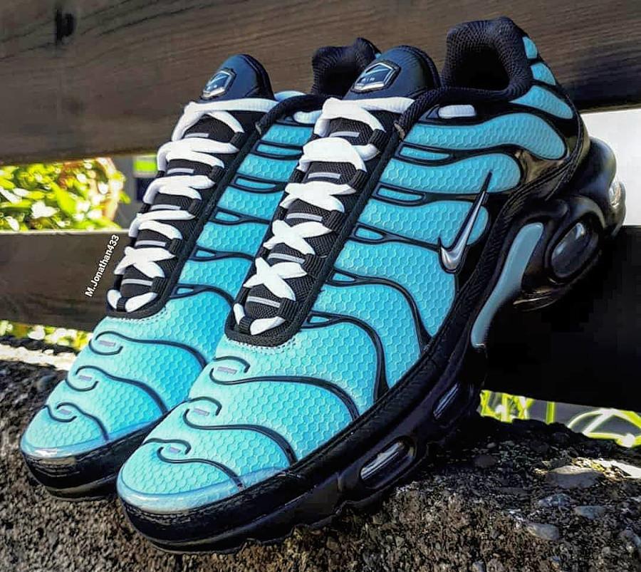 Nike Tuned 1 2021 bleu turquoise noire et argent (6)