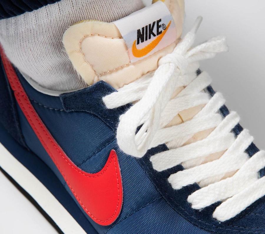 Nike Waffle Trainer II bleu foncé et rouge (2)