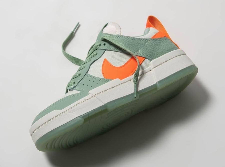 Nike Wmns Dunk Low Disrupt vert pâle et orange (1)