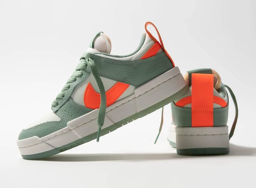 Nike Wmns Dunk Low Disrupt vert pâle et orange (2)