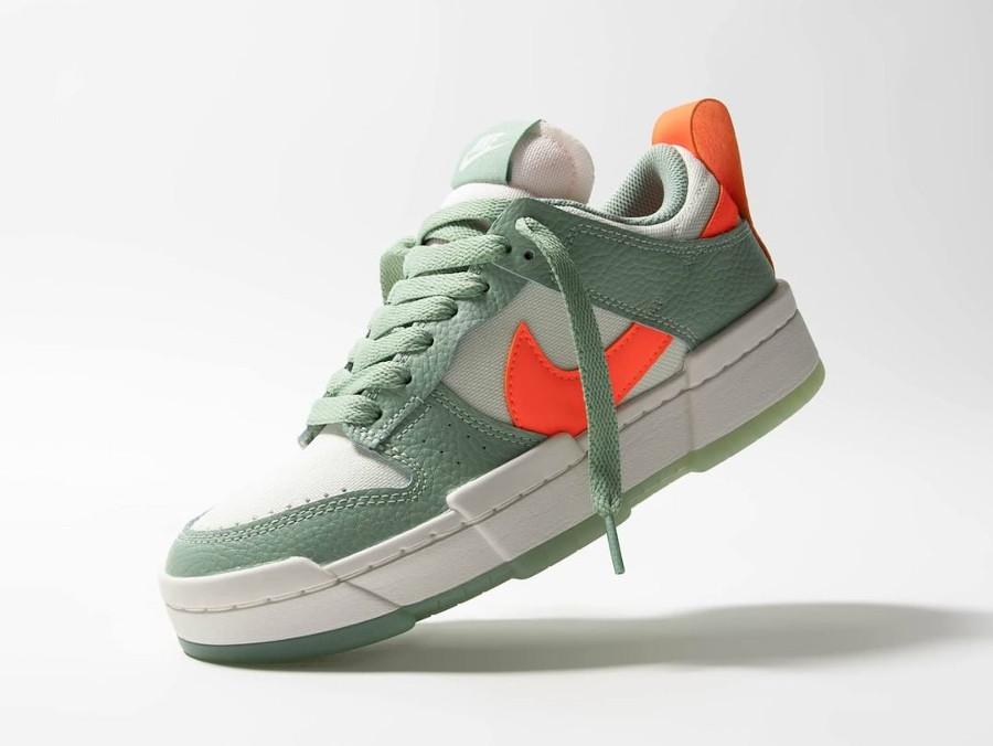 Nike Wmns Dunk Low Disrupt vert pâle et orange (3)