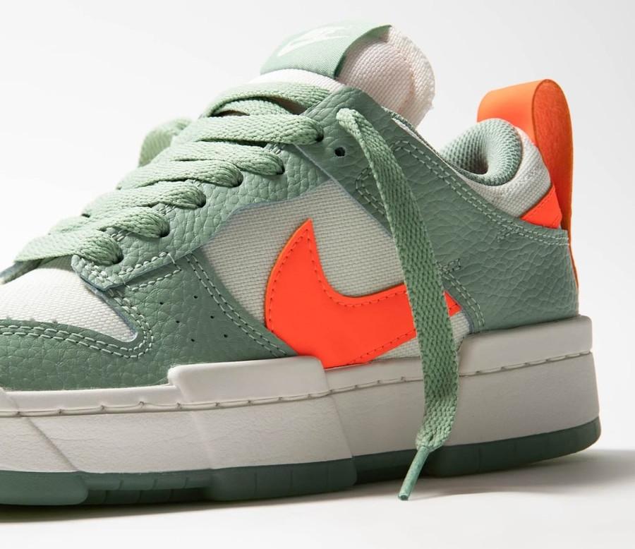 Nike Wmns Dunk Low Disrupt vert pâle et orange (4)