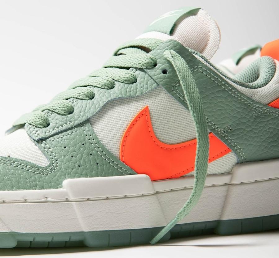 Nike Wmns Dunk Low Disrupt vert pâle et orange (5)