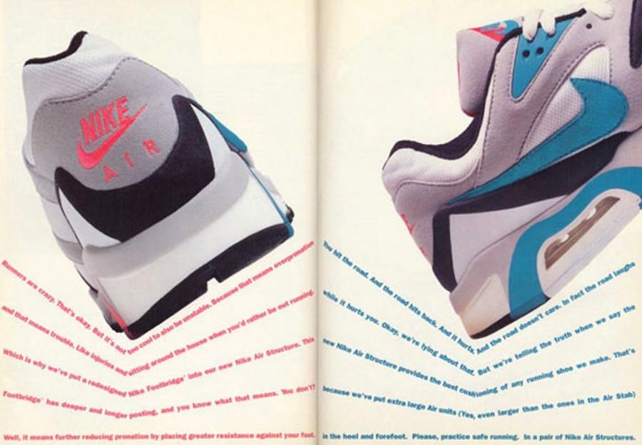 Publicité vintage de 1991 de la Nike Air Structure (1)