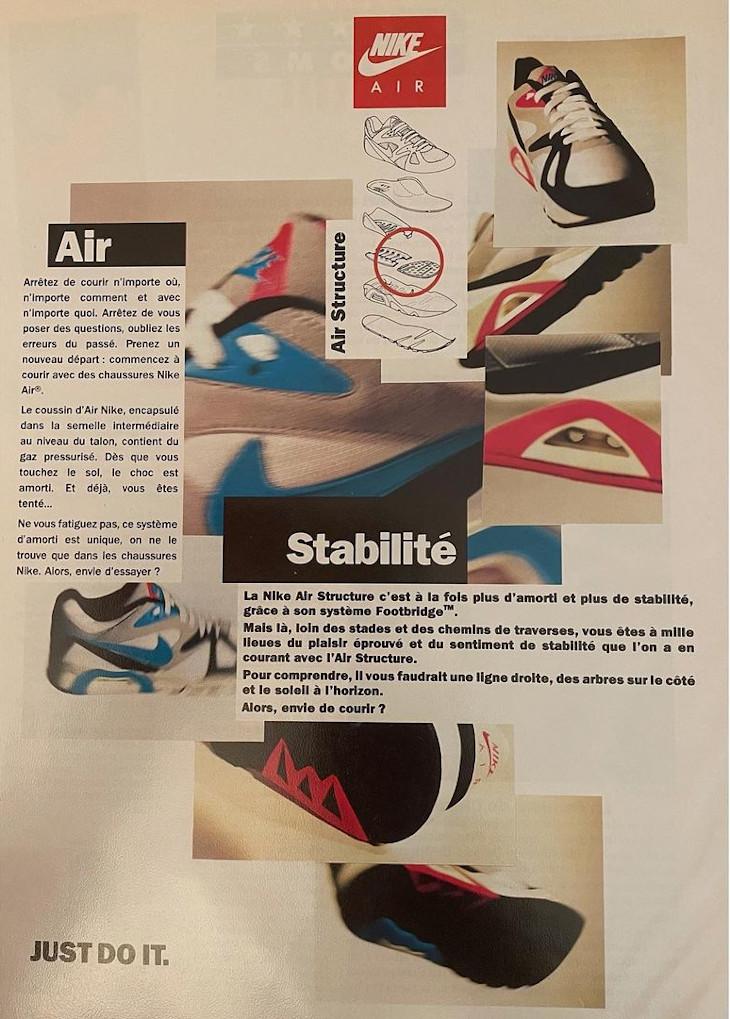 Publicité vintage de 1991 de la Nike Air Structure (2)