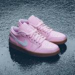 Air Jordan 1 Low Wmns 'Arctic Pink Gum Light Brown'