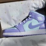 Air Jordan 1 Mid 'Purple Aqua Blue'