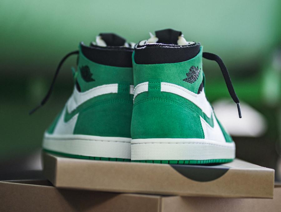 AJ1 Zoom Comfort blanche et verte (3)