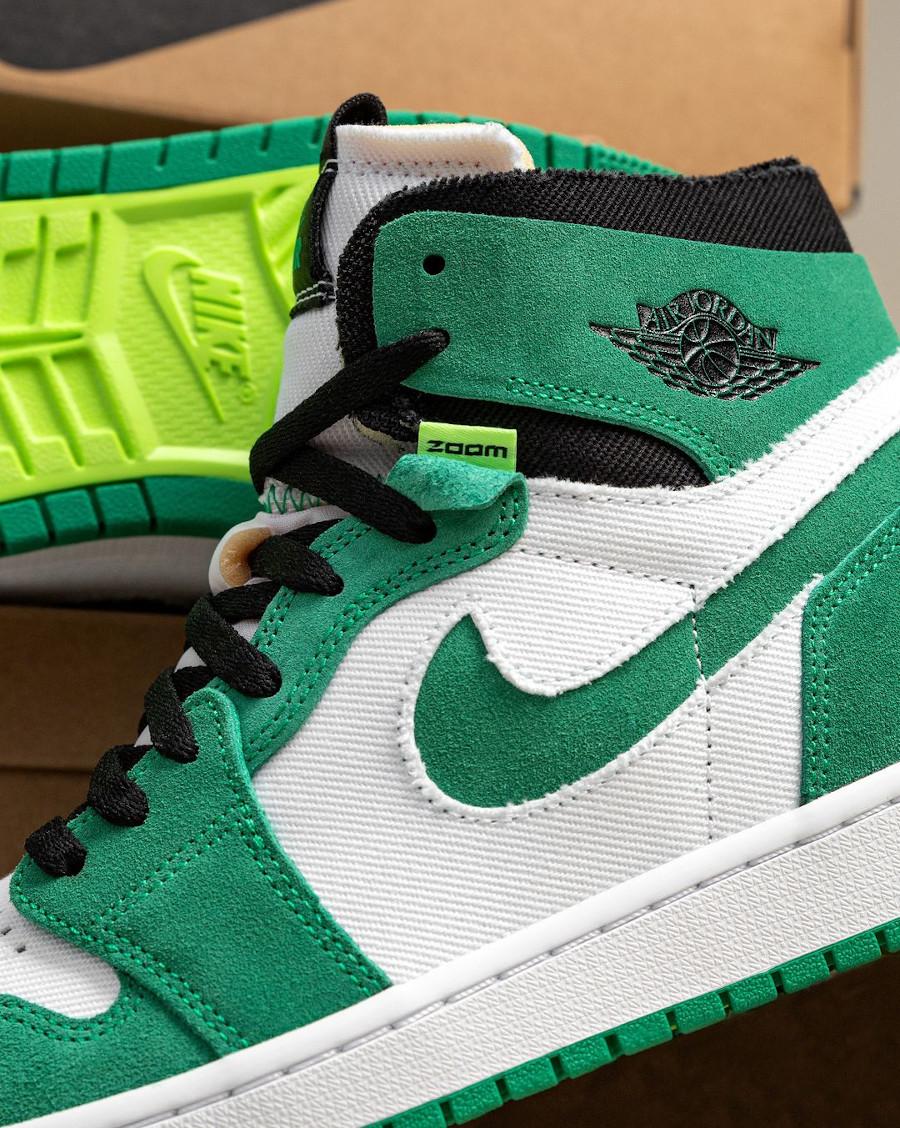 AJ1 Zoom Comfort blanche et verte (4)