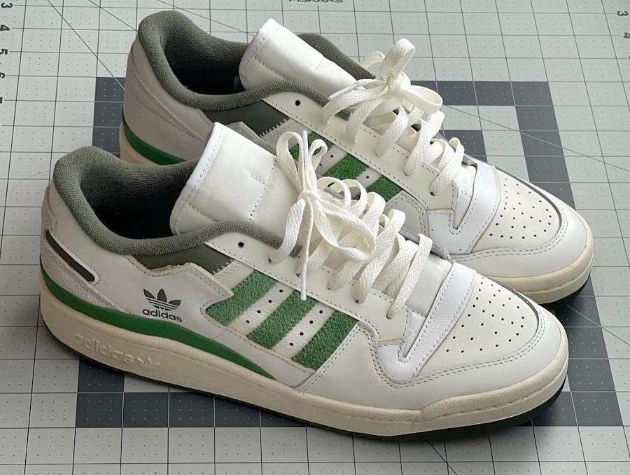Adidas Forum Low 84 vintage blanche et verte (1)