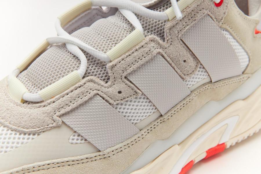 Adidas Nite Ball blanc cassé grise et orange (5)