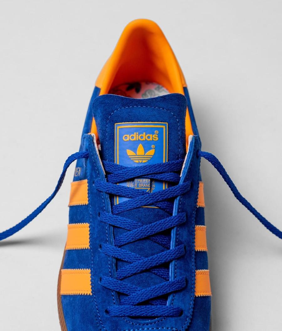 Adidas Vienne en suède bleu et orange (1)
