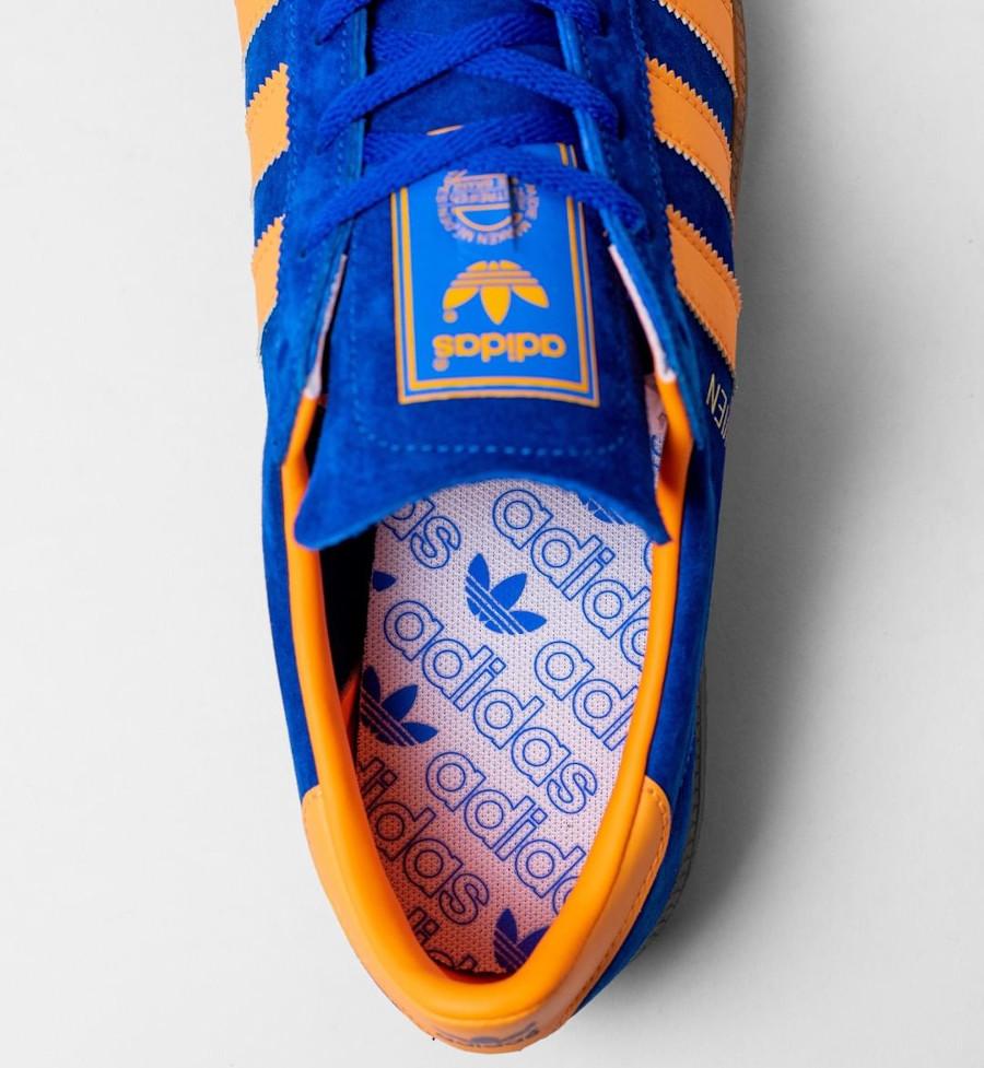 Adidas Vienne en suède bleu et orange (3)