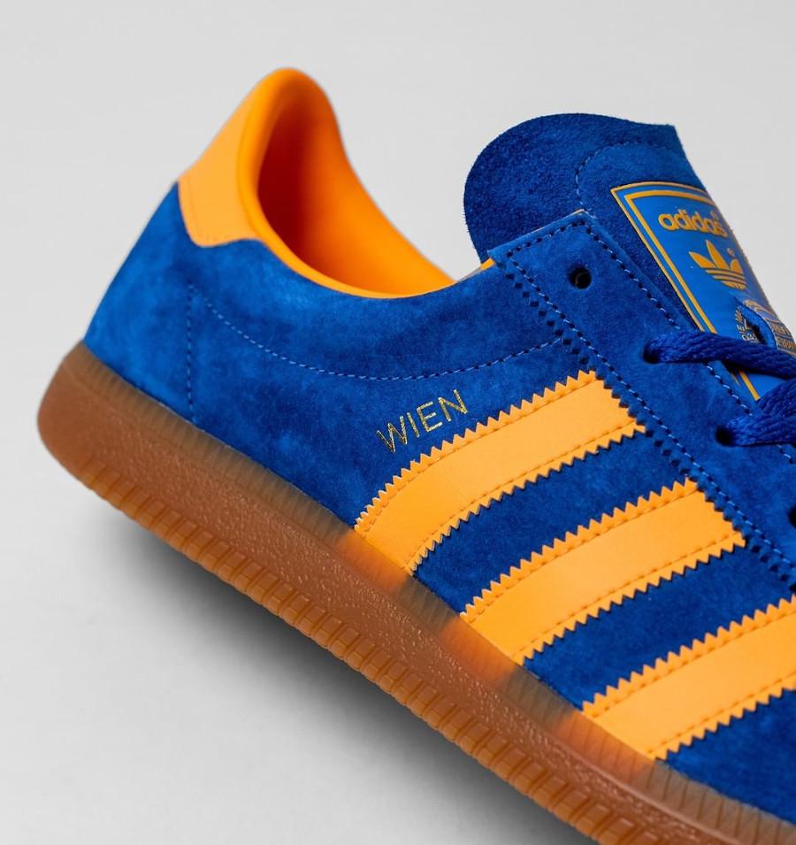 Adidas Vienne en suède bleu et orange (4)