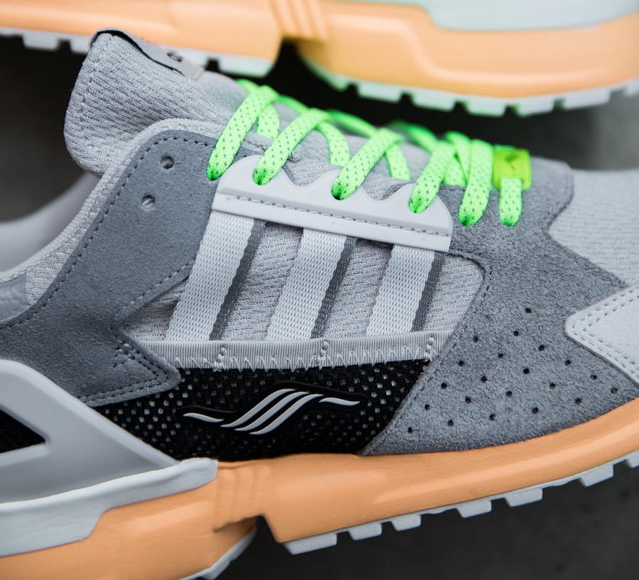 Adidas ZX 10.000 grise et vert fluo (2)