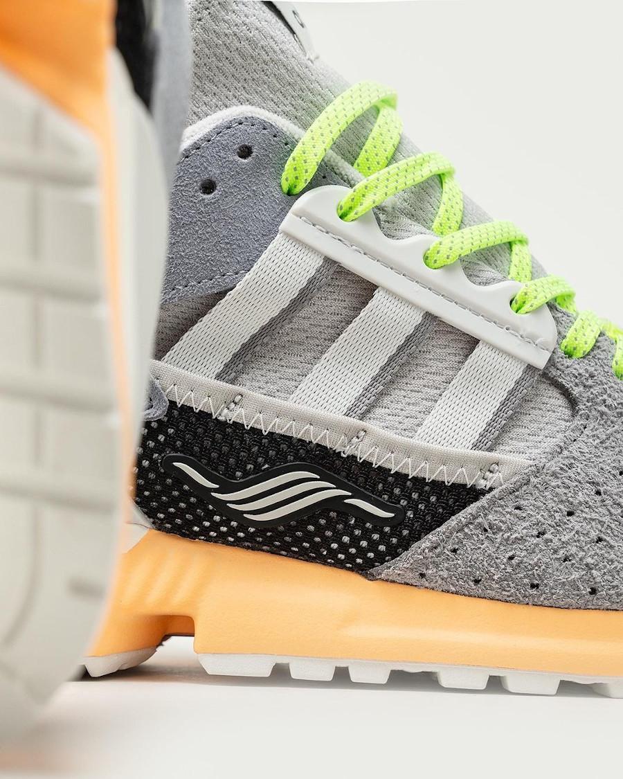 Adidas ZX 10.000 grise et vert fluo (4)