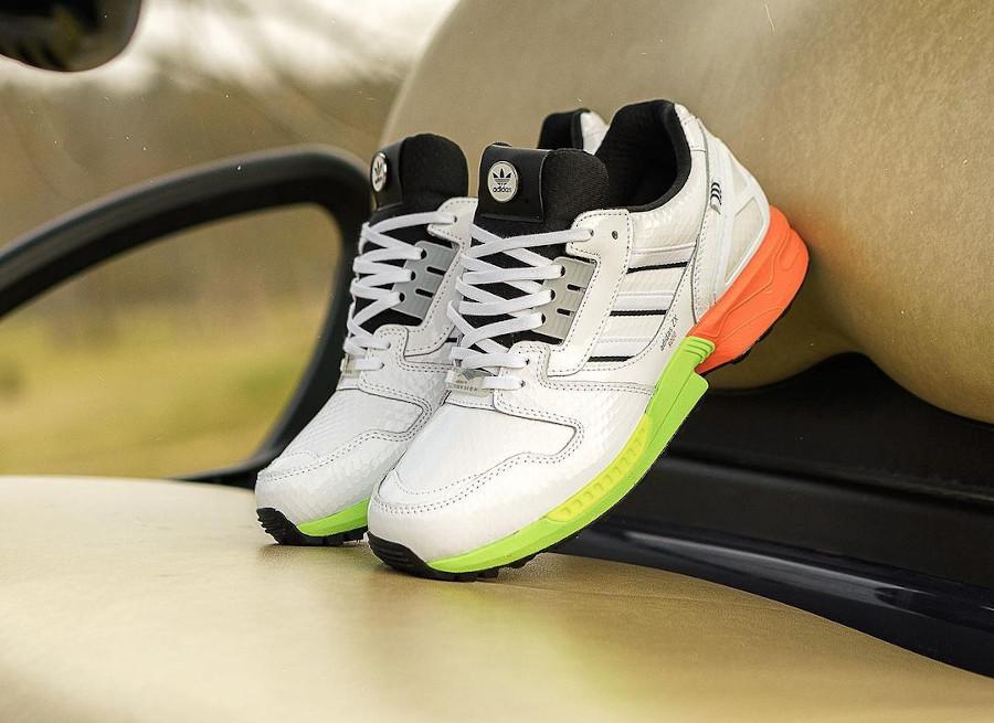 Adidas ZX 8000 blanche vert fluo et orange AZ X (2)