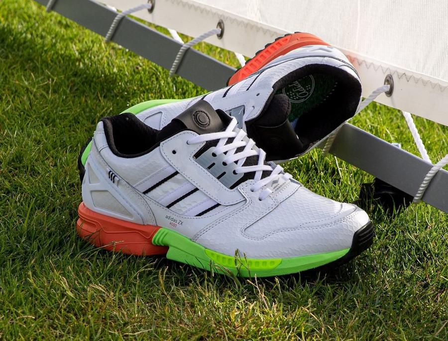 Adidas ZX 8000 blanche vert fluo et orange AZ X (3)