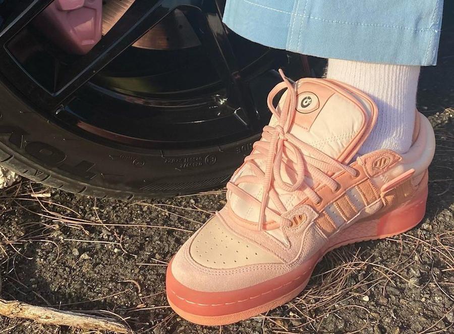 Adidas x BB Forum Low rose pastel on feet