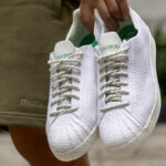 Pharrell Williams x Adidas Superstar Primeknit 'White Green'