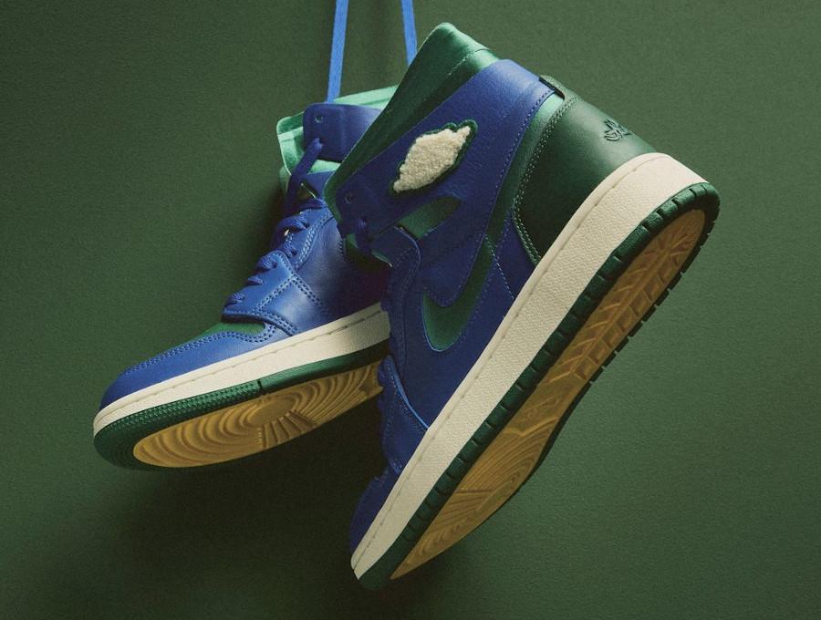 Air Jordan 1 Comfort 2021 bleue et verte (1)