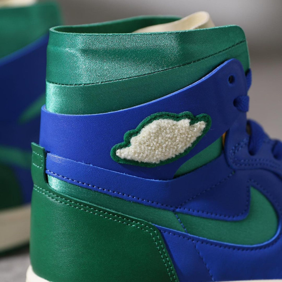 Air Jordan 1 Comfort 2021 bleue et verte (3)