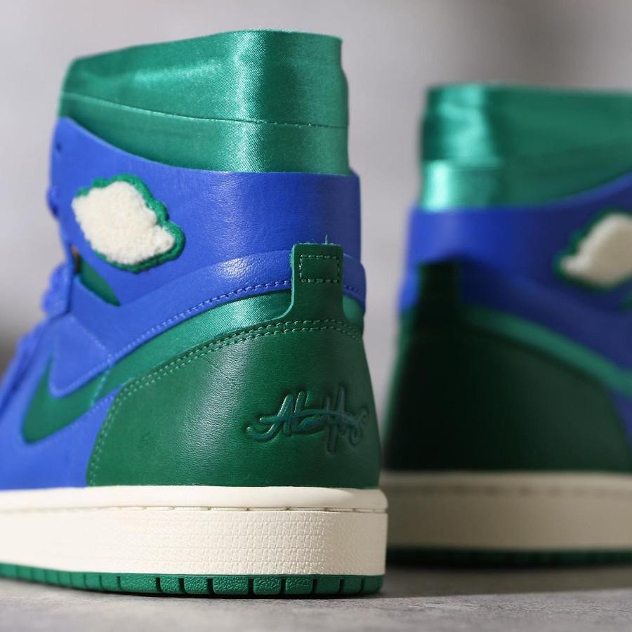 Air Jordan 1 Comfort 2021 bleue et verte (5)