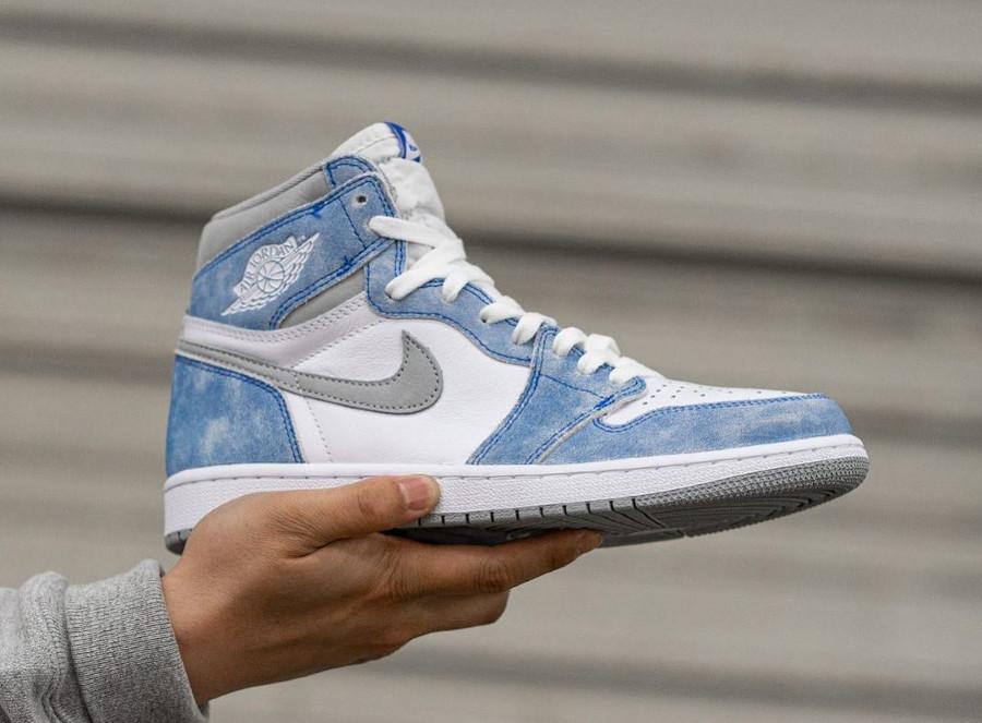 Air Jordan 1 Hi 85 2021 blanche et bleu ciel (3)