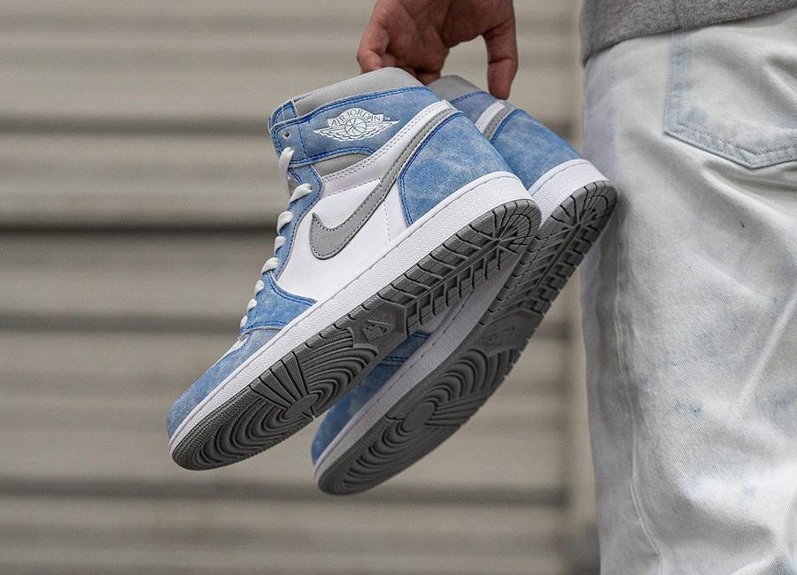 Air Jordan 1 Hi 85 2021 blanche et bleu ciel (4)