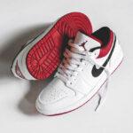 Air Jordan 1 Low White Gym Red Black