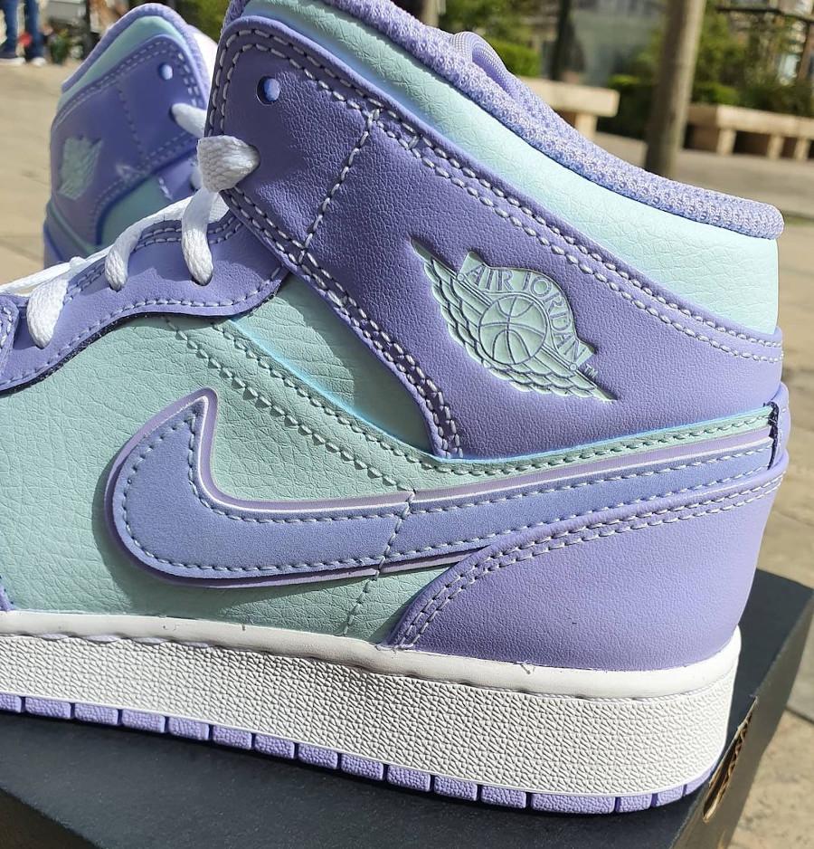 Air Jordan 1 Mid 2021 violet et bleu pastel (1)