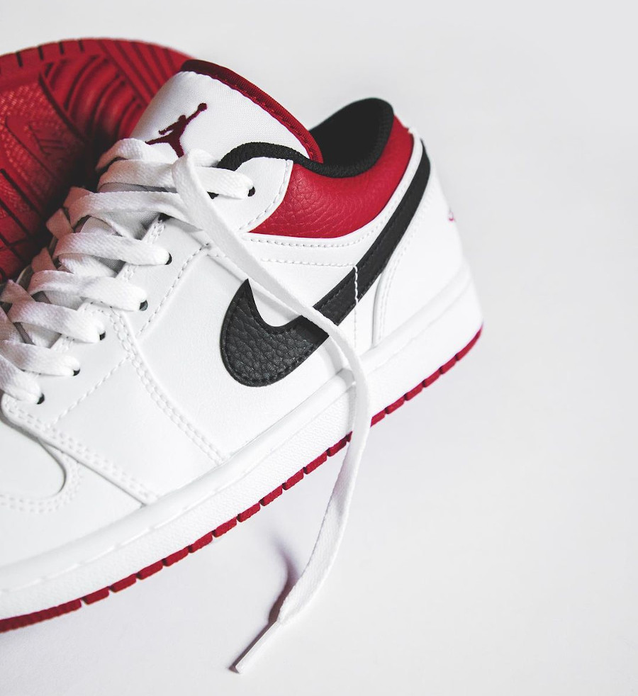 Air Jordan 1 basse 2021 blanche rouge et noire (2)