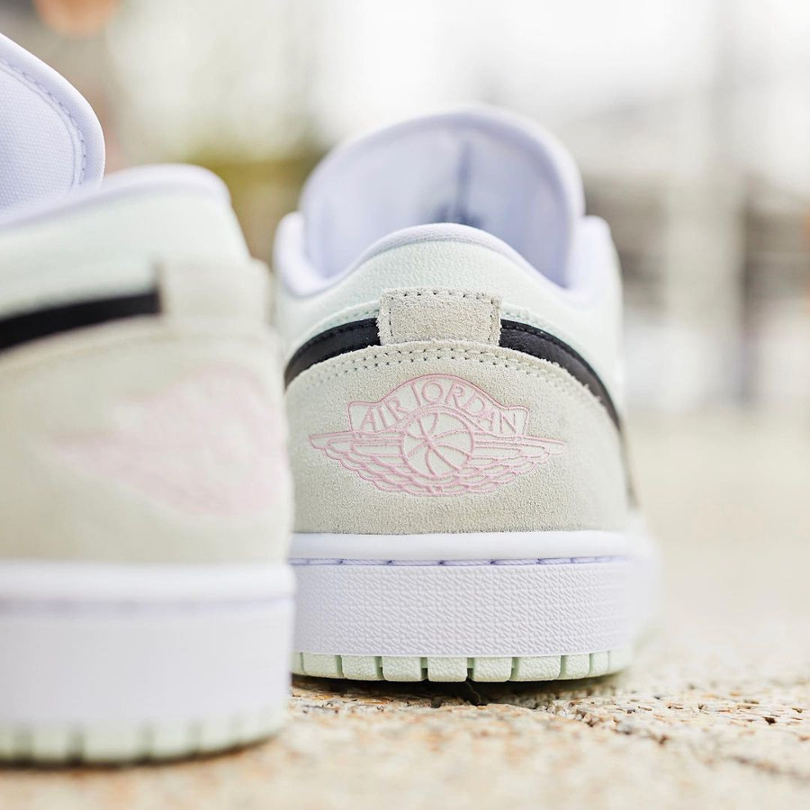 Air Jordan I basse femme vert pastel et rose (1)