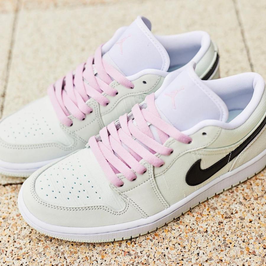 Air Jordan I basse femme vert pastel et rose (2)