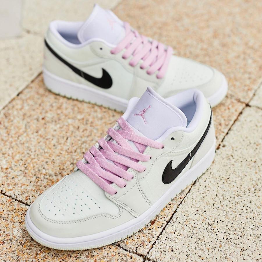 Air Jordan I basse femme vert pastel et rose (3)