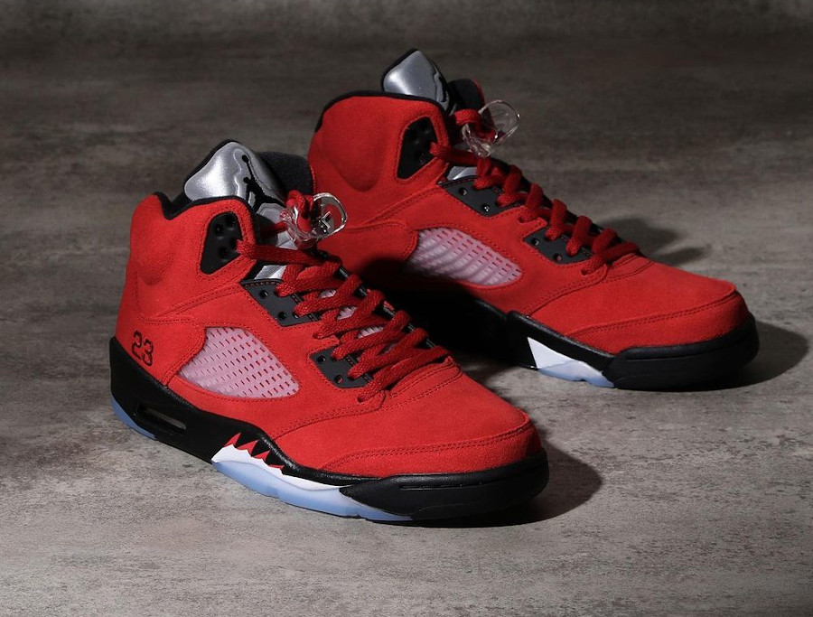 Air Jordan V Retro DMP en suède rouge (0)