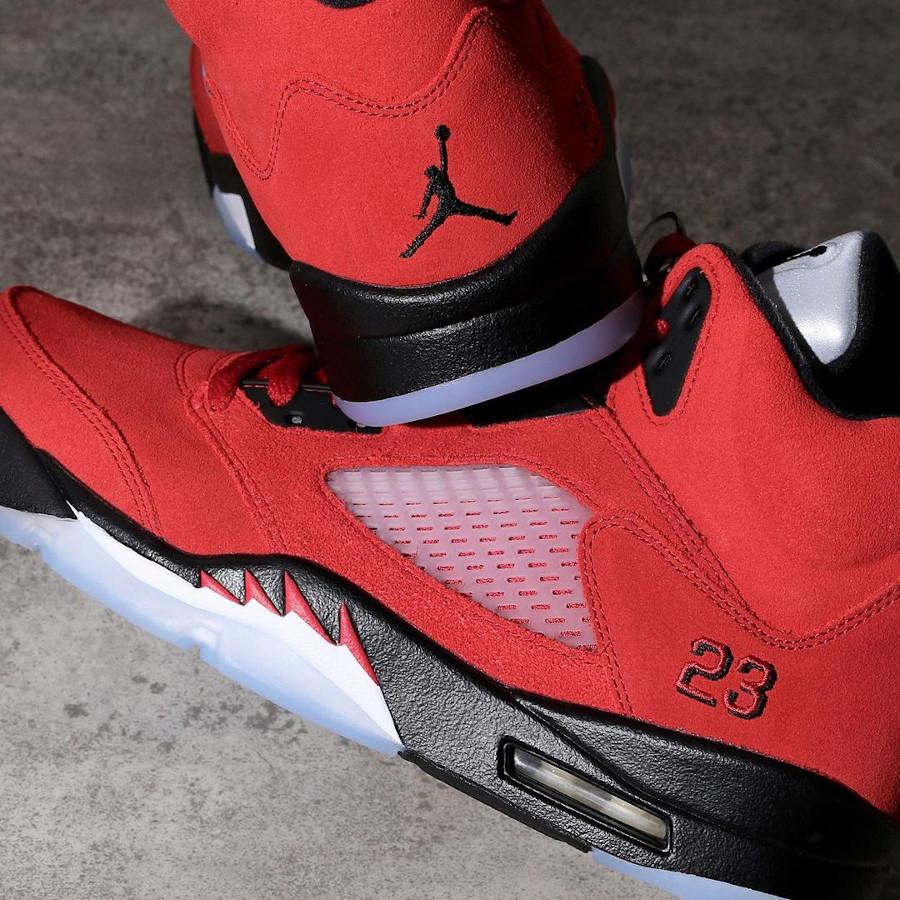 Air Jordan V Retro DMP en suède rouge (1-1)