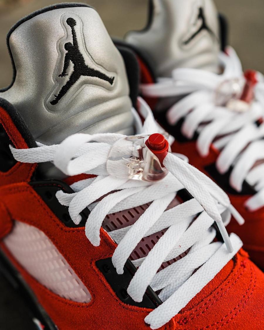 Air Jordan V Retro DMP en suède rouge (10)