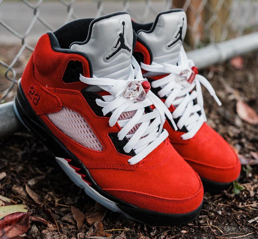 Air Jordan V Retro DMP en suède rouge (12)