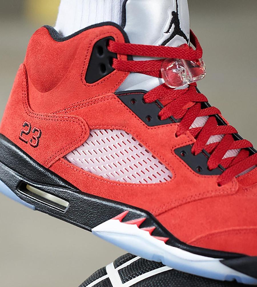 Air Jordan V Retro DMP en suède rouge (4)
