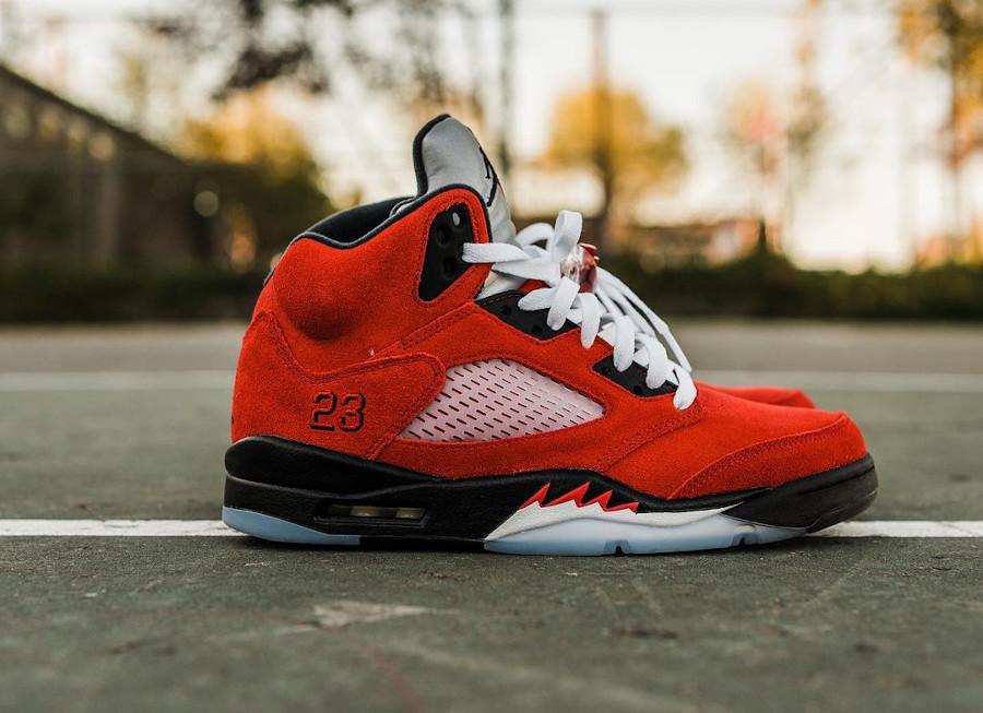 Air Jordan V Retro DMP en suède rouge (8)