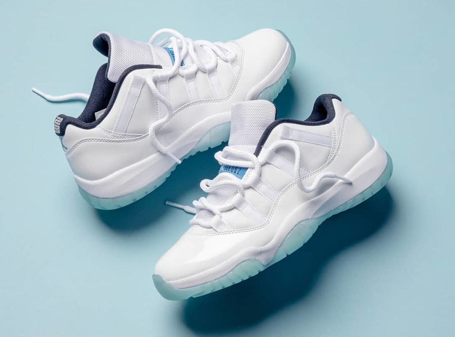 Air Jordan XII Low en cuir brillant blanc (semelle icy) (0)