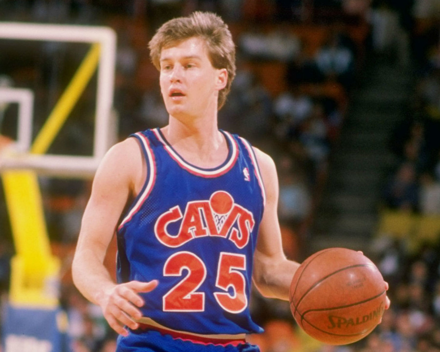 Jersey Cleveland Cavaliers bleu et orange 1987-1989