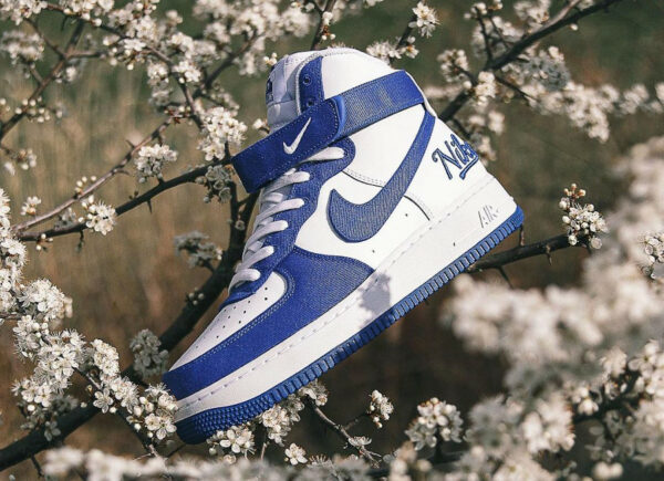 Nike AF1 High 07 LV8 EMB Dodgers Rush Blue DC8168-100