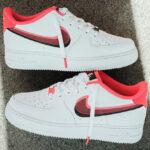Nike Air Force 1 LV8 GS Double Swoosh 'White Bright Crimson'