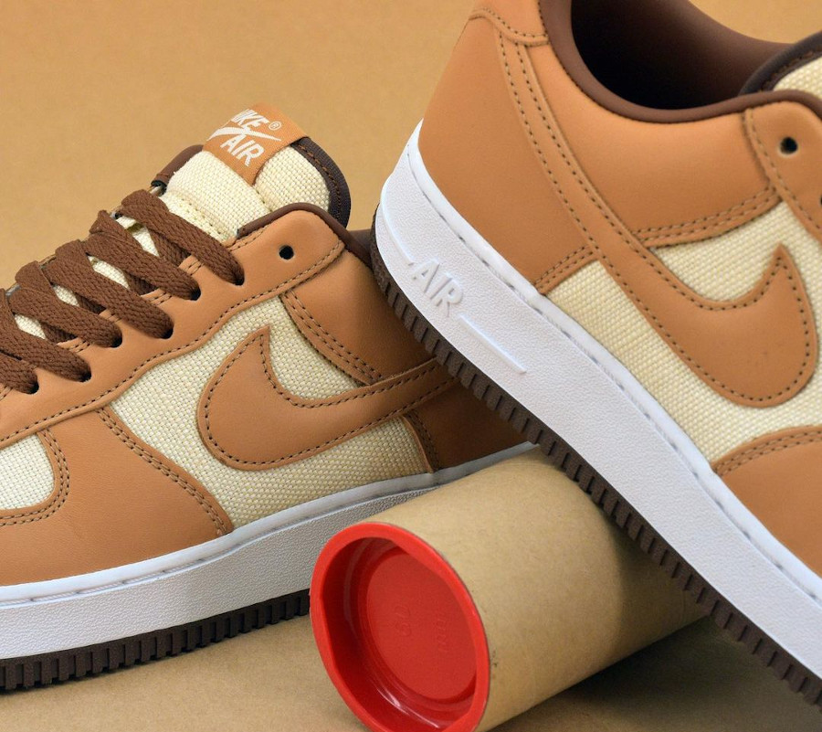 Nike Air Force One CO.JP marron et beige (4)