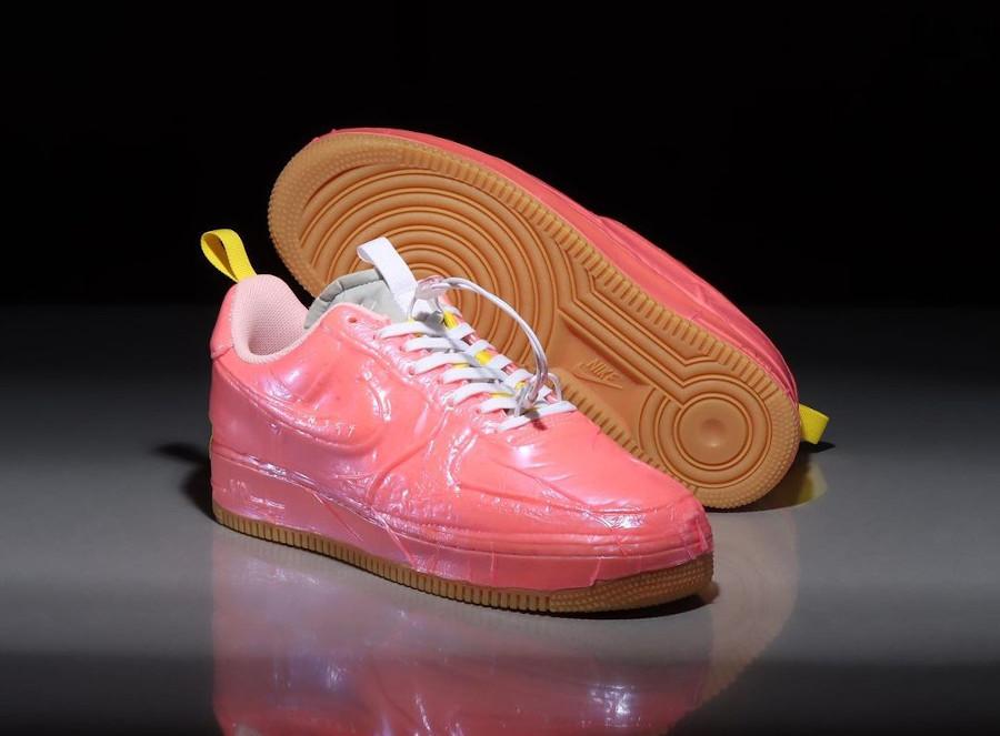 Nike Air Force One EXPT en plastique rose (1)