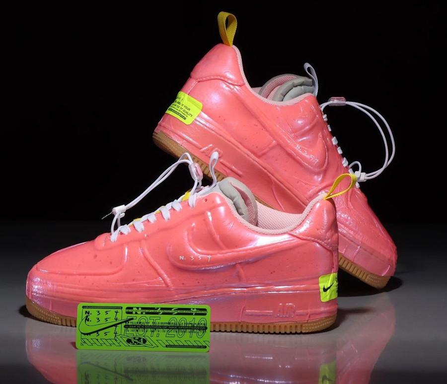 Nike Air Force One EXPT en plastique rose (2)