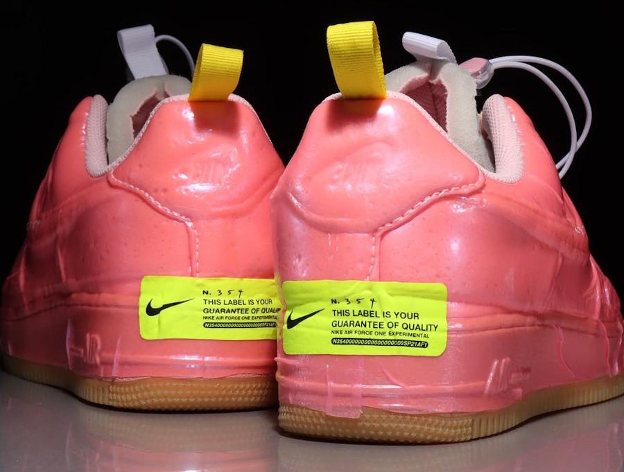 Nike Air Force One EXPT en plastique rose (3)